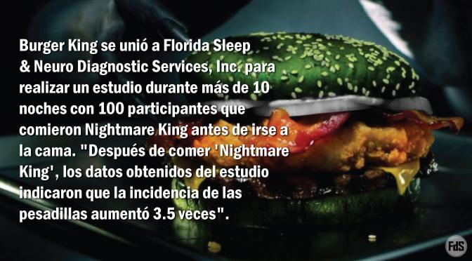 """Burger King lanza el diabólico """"Nightmare King"""" Whopper, científicamente probado para aumentar tus sueños aterradores en un 350%"""
