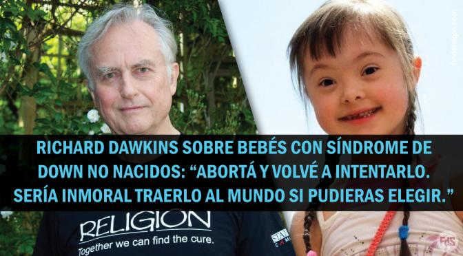 Richard Dawkins: ¿Los delfines valen más que los bebés con síndrome de Down?