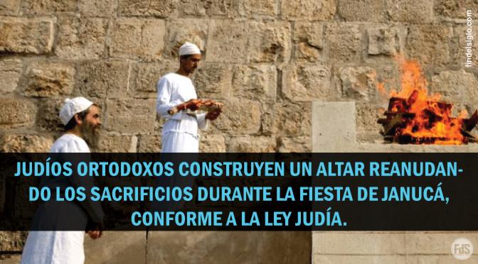 [Israel] Se ofrecieron sacrificios en un altar en Jerusalén, siguiendo la Torá