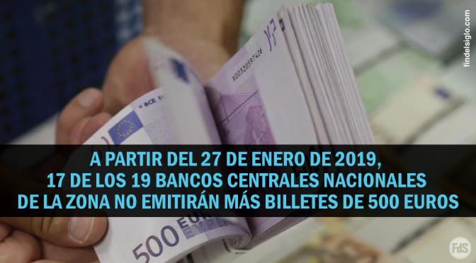 Dejan de emitir los billetes de 500 euros