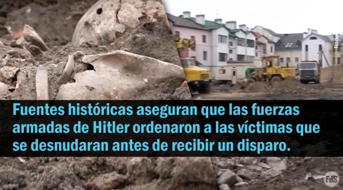 [Bielorrusia] Horrorosa fosa común de 1.000 hombres, mujeres y niños judíos asesinados a tiros en la cabeza por nazis desenterrados en un sitio de construcción