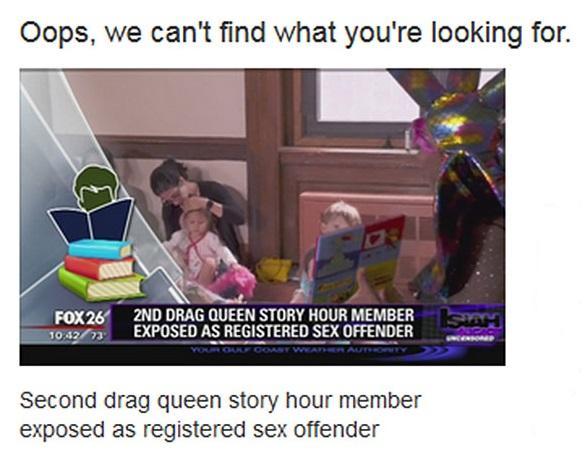 pedofilo lee libros biblioteca drag queen 7