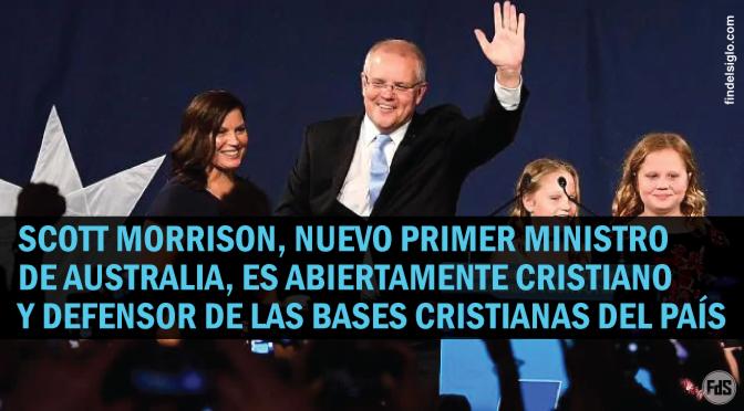 Australia eligió a un cristiano evangélico como Primer Ministro