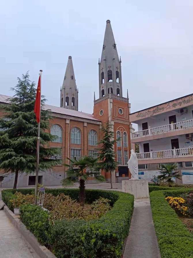 cruz reemplazada por bandera china