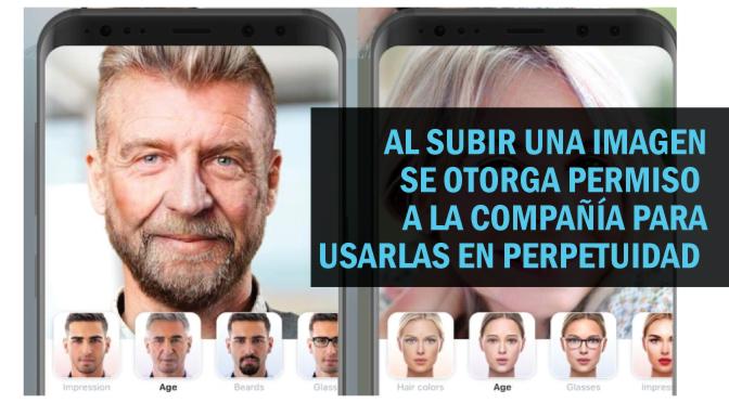 FaceApp usa las fotos para entrenar algoritmos de reconocimiento facial