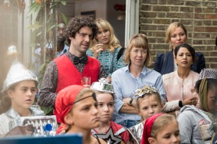Lucy Punch as Amanda, Paul Ready as Kevin, Anna Maxwell Martin as Julia - Motherland _ Season 1, Episode 1 - Photo Credit: Colin Hutton/SundanceNow/Merman/Delightful/Lionsgate/BBC