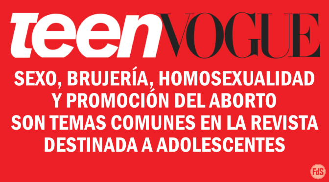 Teen Vogue es anti-Dios y anti-Biblia