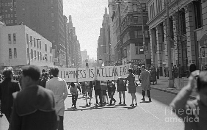 Dia de la tierra. 1970.