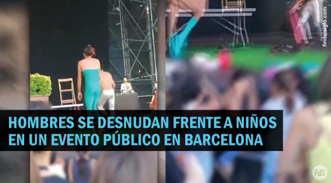"""[España] Permiten """"striptease"""" frente a niños"""
