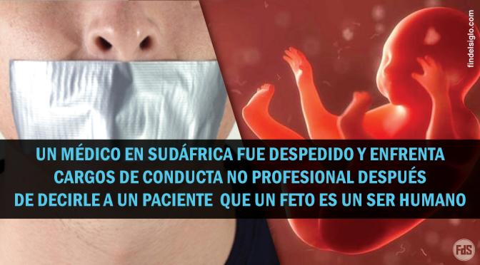[Sudáfrica] Médico pro-vida despedido por llamar al feto un ser humano