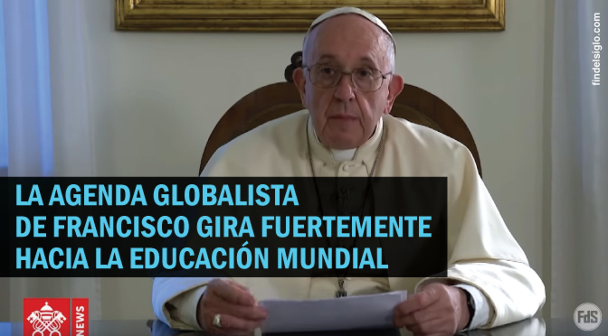 Francisco promueve un pacto educativo global