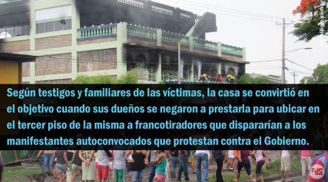 [Nicaragua] Queman vivos a pastor y su familia dentro de su casa