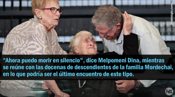 ¿La última reunión? En Jerusalén, una rescatadora griega de 92 años se encuentra con los judíos que salvó durante la Segunda Guerra Mundial
