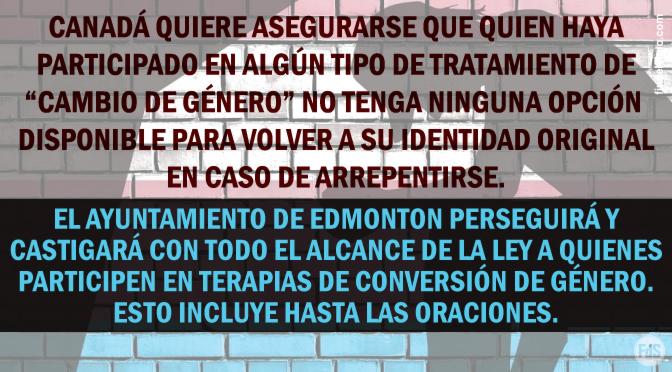 [Canadá] Edmonton aprueba estatuto para prohibir oficialmente la terapia de conversión