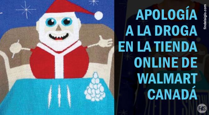 [Canadá] Walmart lanzó un suéter navideño de Papa Noel consumiendo líneas de cocaína