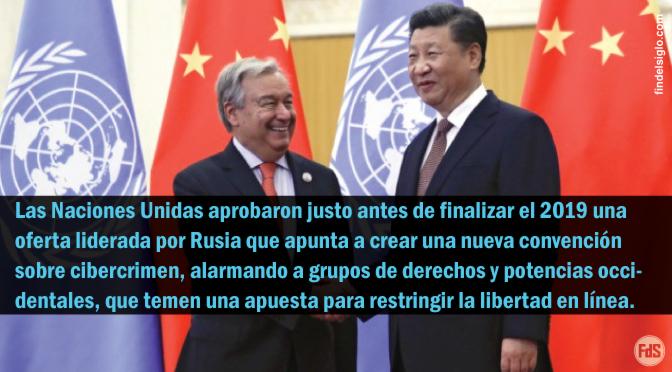 La ONU aprueba la convención de Internet respaldada por China, y alarma a grupos defensores de los derechos