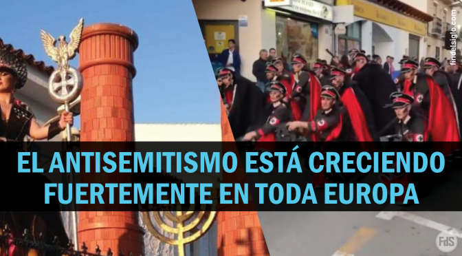 Carnavales en Bélgica y España presentan uniformes nazis, trenes con crematorios y fuerte contenido antisemita