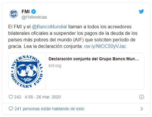 FMI BM cancelacion de deudas