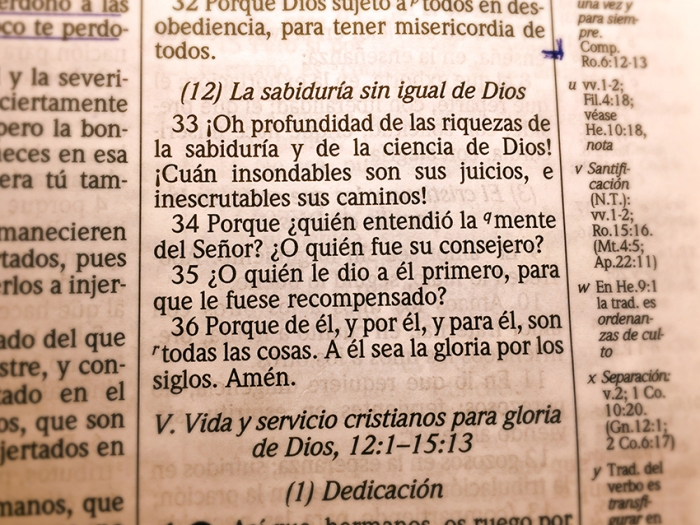 La sabiduria sin igual de Dios