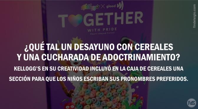 Perverso: Kellogg's lanza cereales LGBT con espacio en la caja para que los niños escriban el pronombre que elijan
