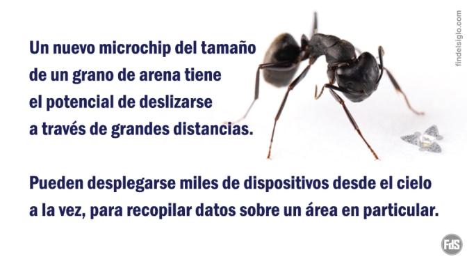 Microchips aerotransportados en miniatura promocionados como un gran avance para la vigilancia aérea