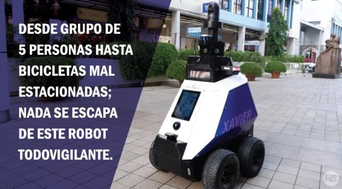[Singapur] Presentan robot 'Xavier' que detecta actitudes 'indeseables', como fumar o romper reglas impuestas por el Ministerio de Salud